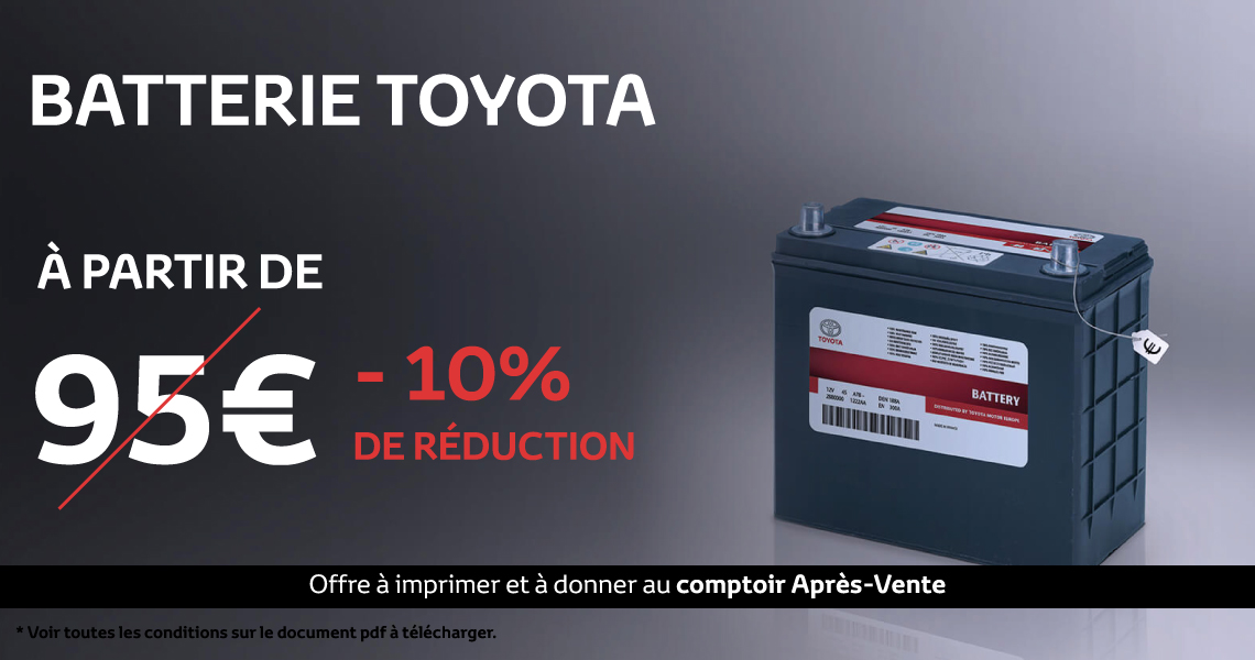 photo offre du moment team colin toyota arcueil batterie